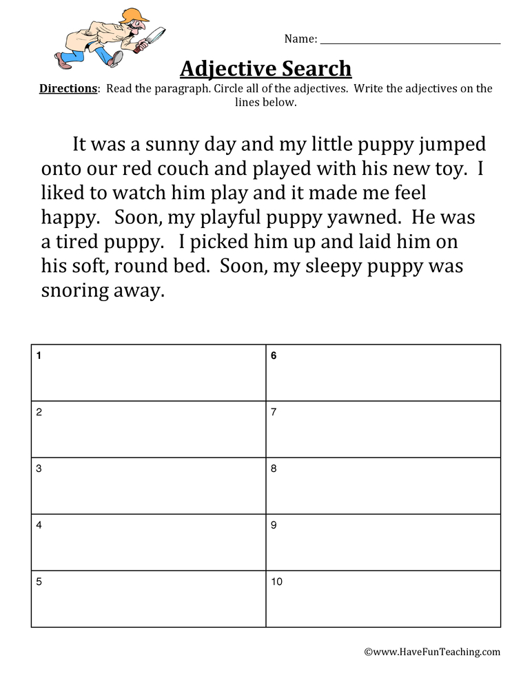 Adjective Worksheet Have Fun Teaching. Adjective Worksheet. Worksheet. 2nd Grade Adjective Worksheets At Clickcart.co