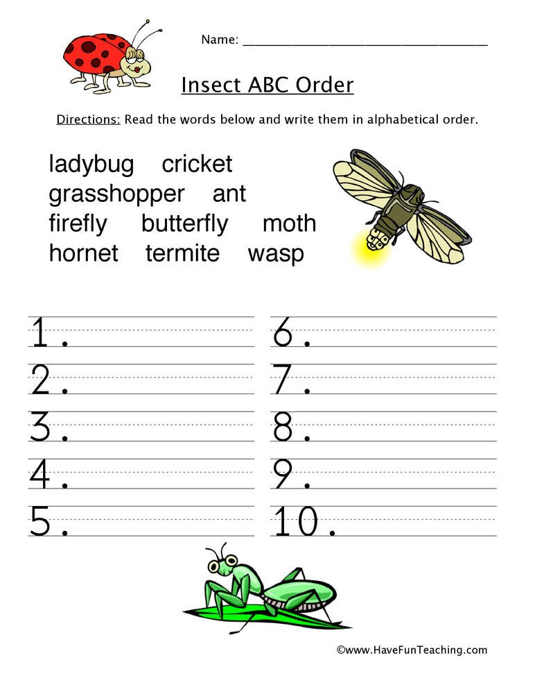 alphabetical-order-worksheet-insects