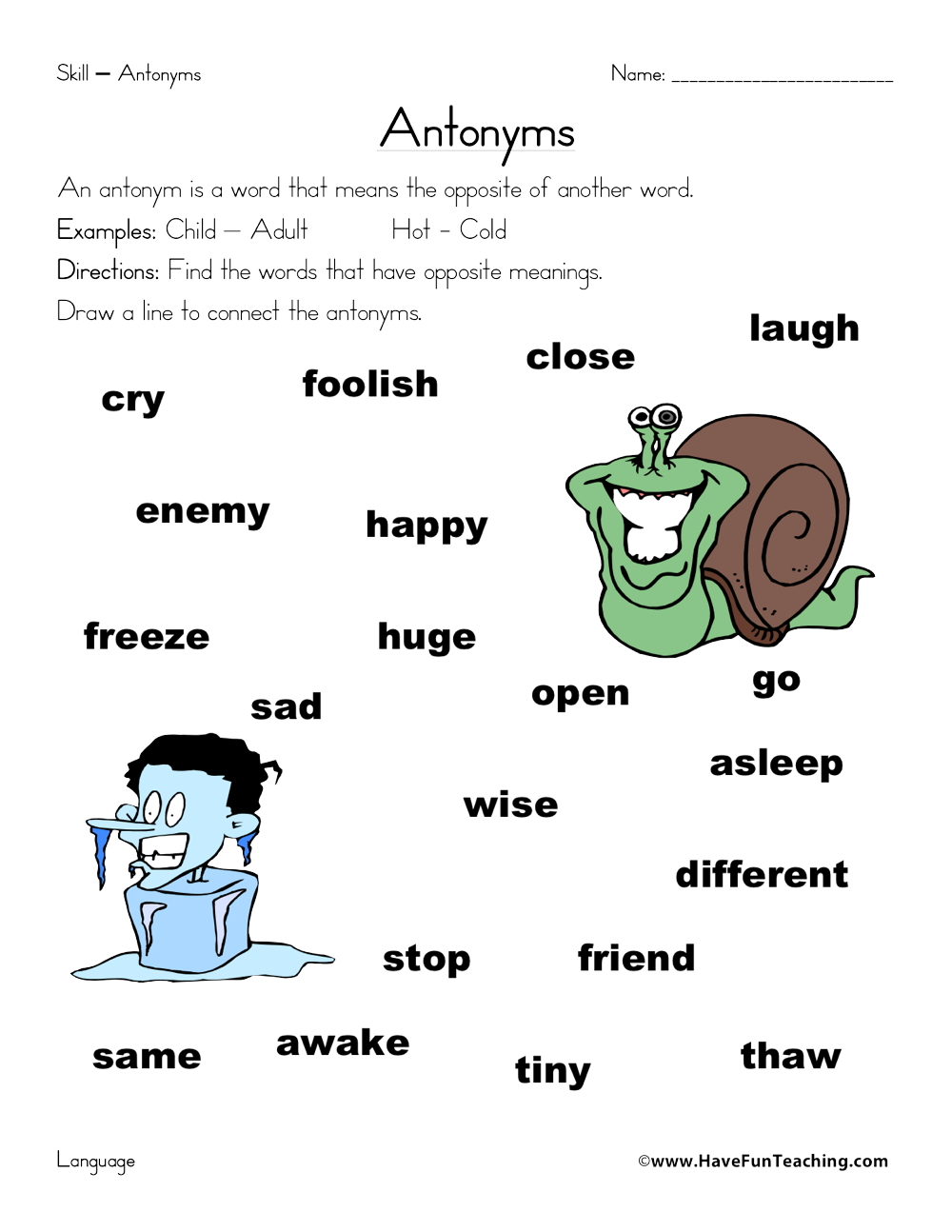 Printables Antonyms Worksheets antonyms worksheet 3 antonym worksheet