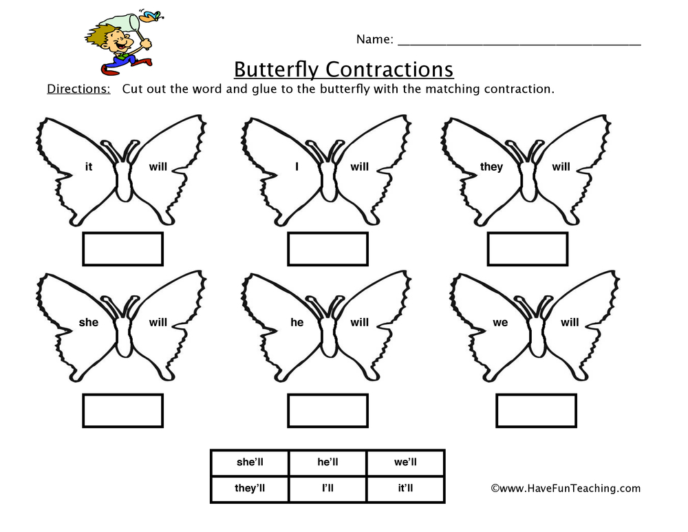 butterfly-contractions-worksheet-2