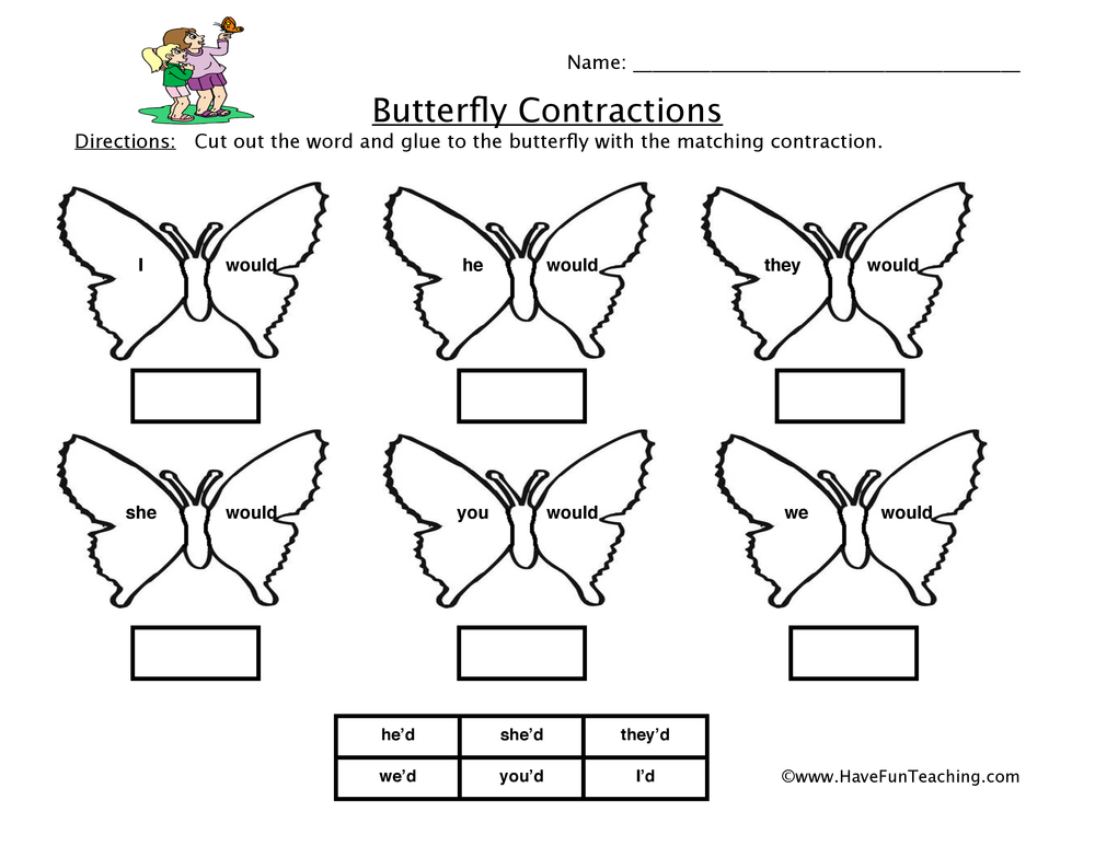butterfly-contractions-worksheet-3