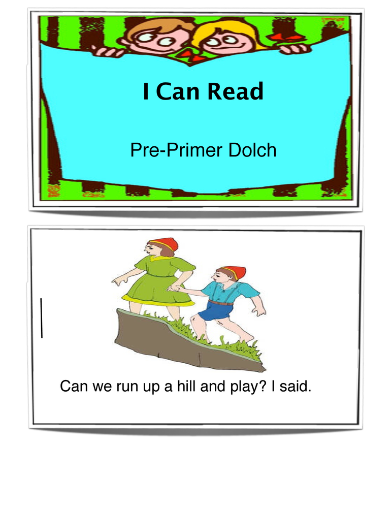 Pre-Primer Sight Words Book