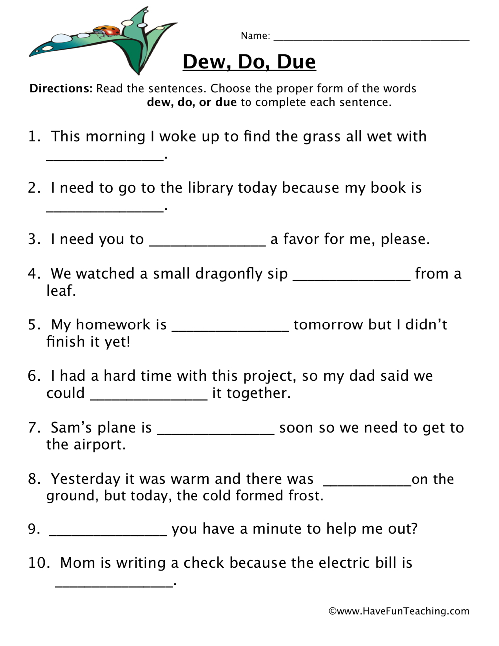 Homophones Worksheet 2nd Grade Freebie Teachers Pay Teachers