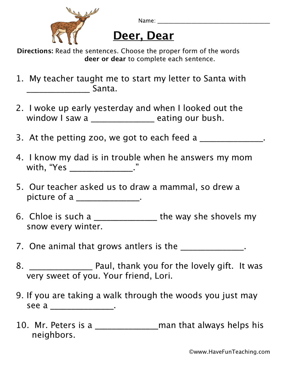 Grade 2 Contractions Worksheet also Fill In Blank The Verb Worksheet ...