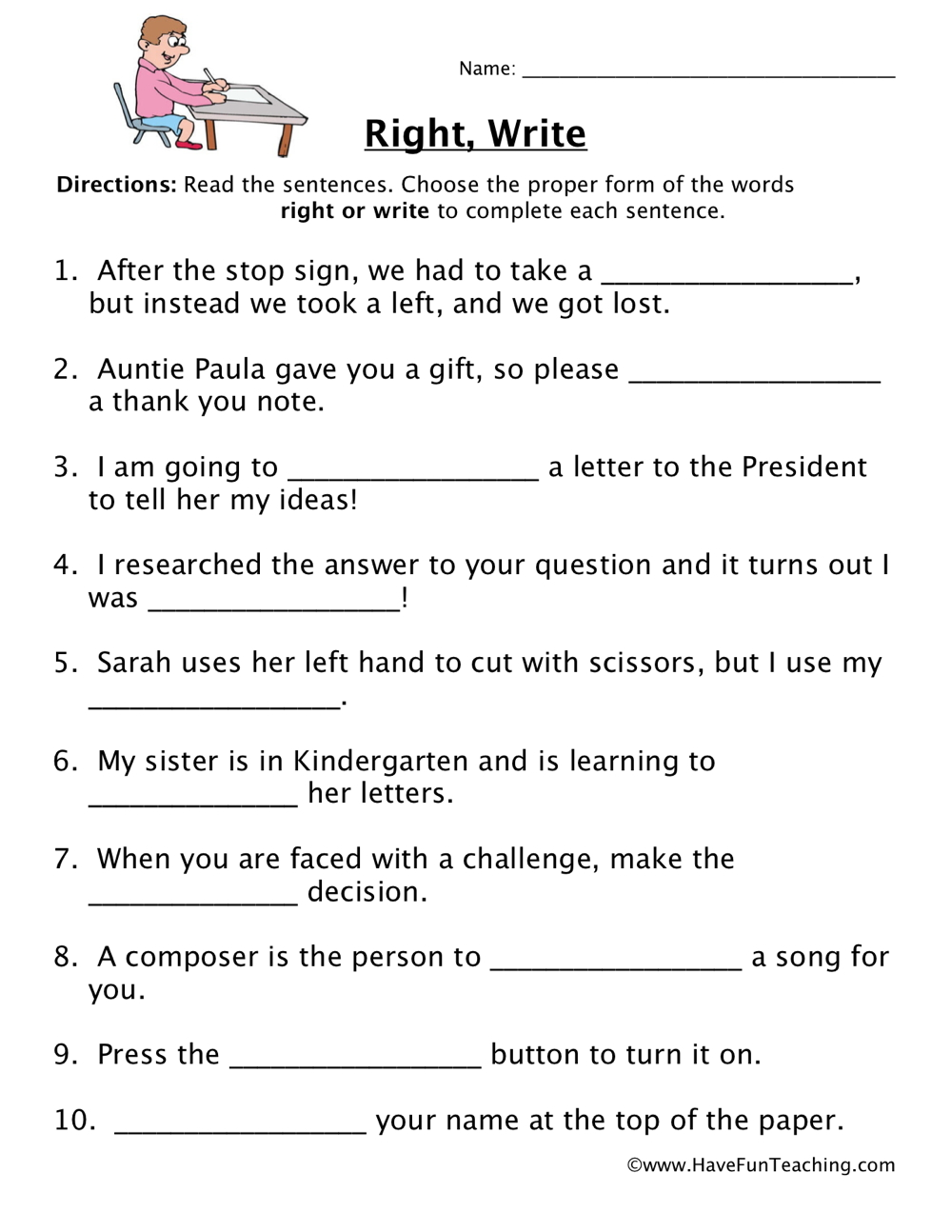By Have Fun Teaching on May 7, 2013 in Homophones Worksheets