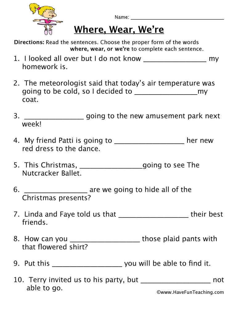 Homophones Worksheets | Have Fun Teaching