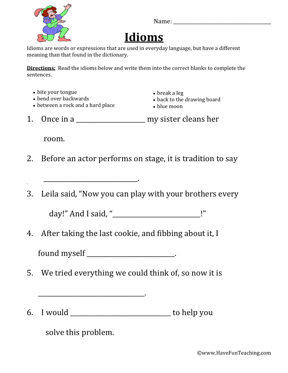 idioms-worksheet-2