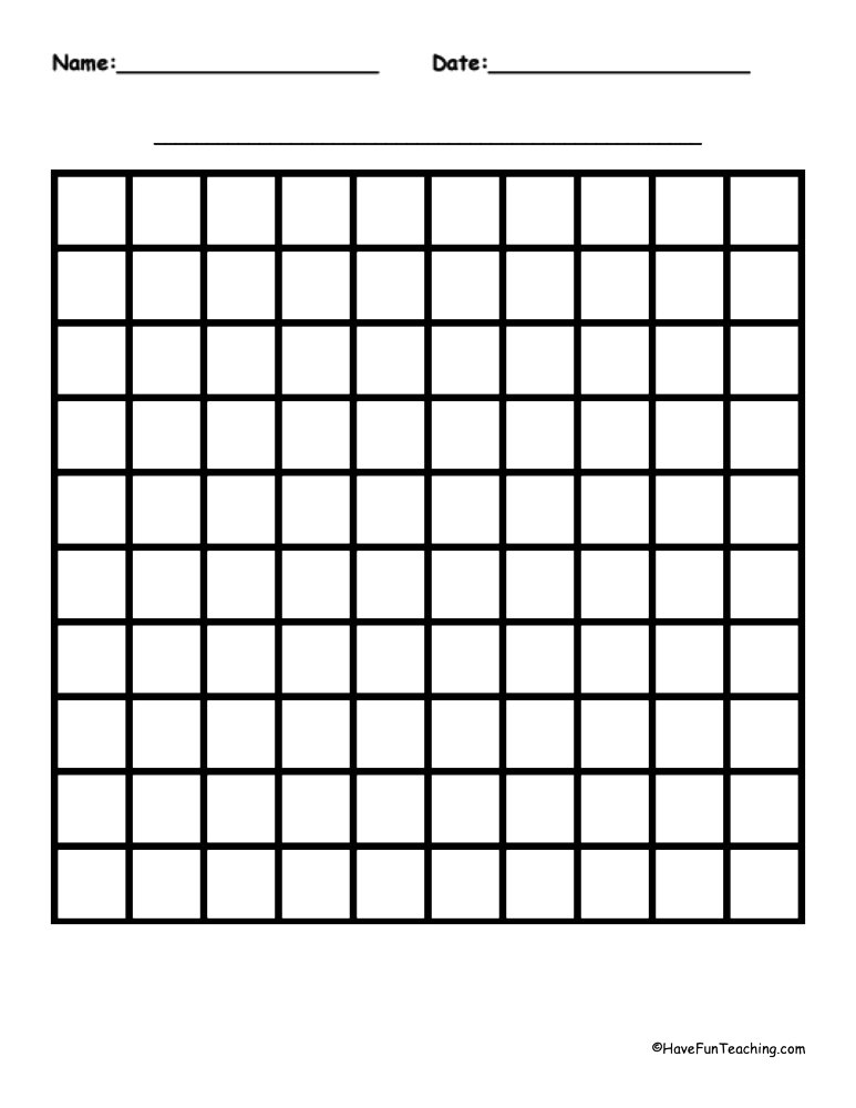 Graph Paper - Have Fun Teaching