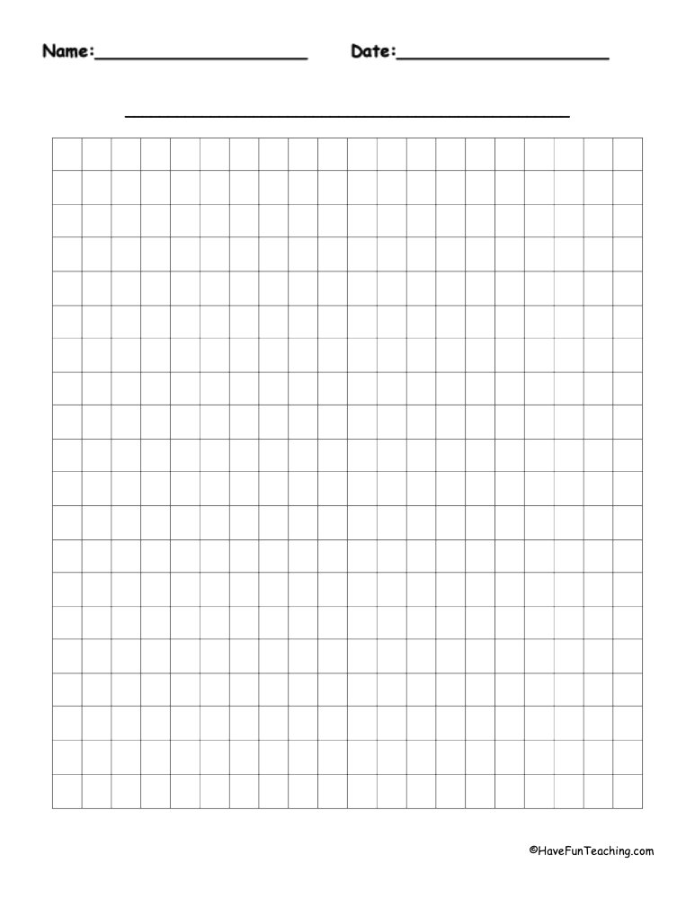 By  Blank Graph Paper  Have Fun Teaching