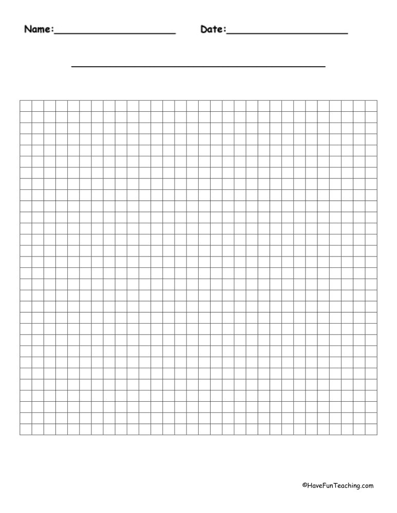 Graph Paper  Have Fun Teaching