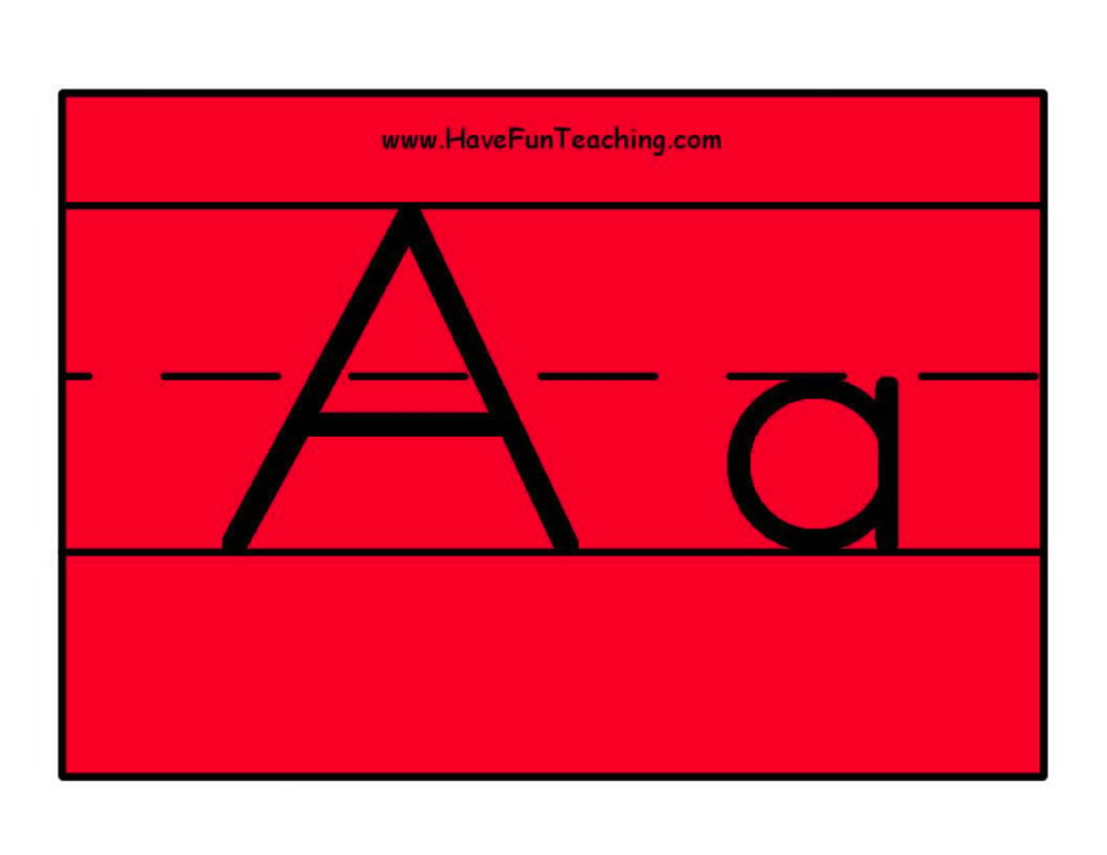 Alphabet Letter Posters Color