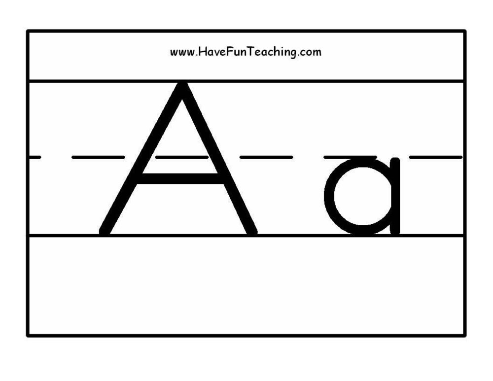 Alphabet Letter Poster Black and White