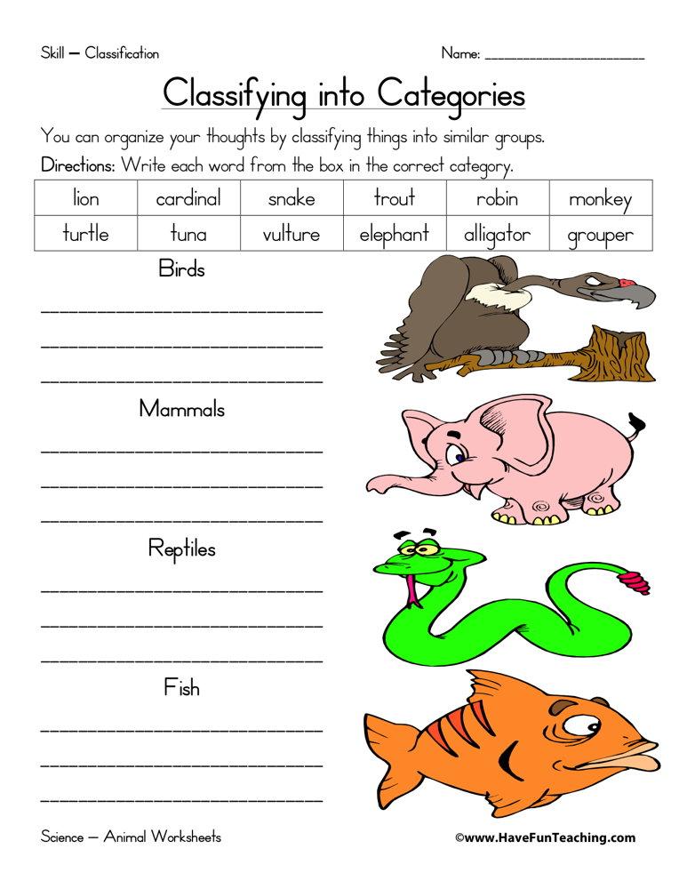 Worksheets On Amphibians