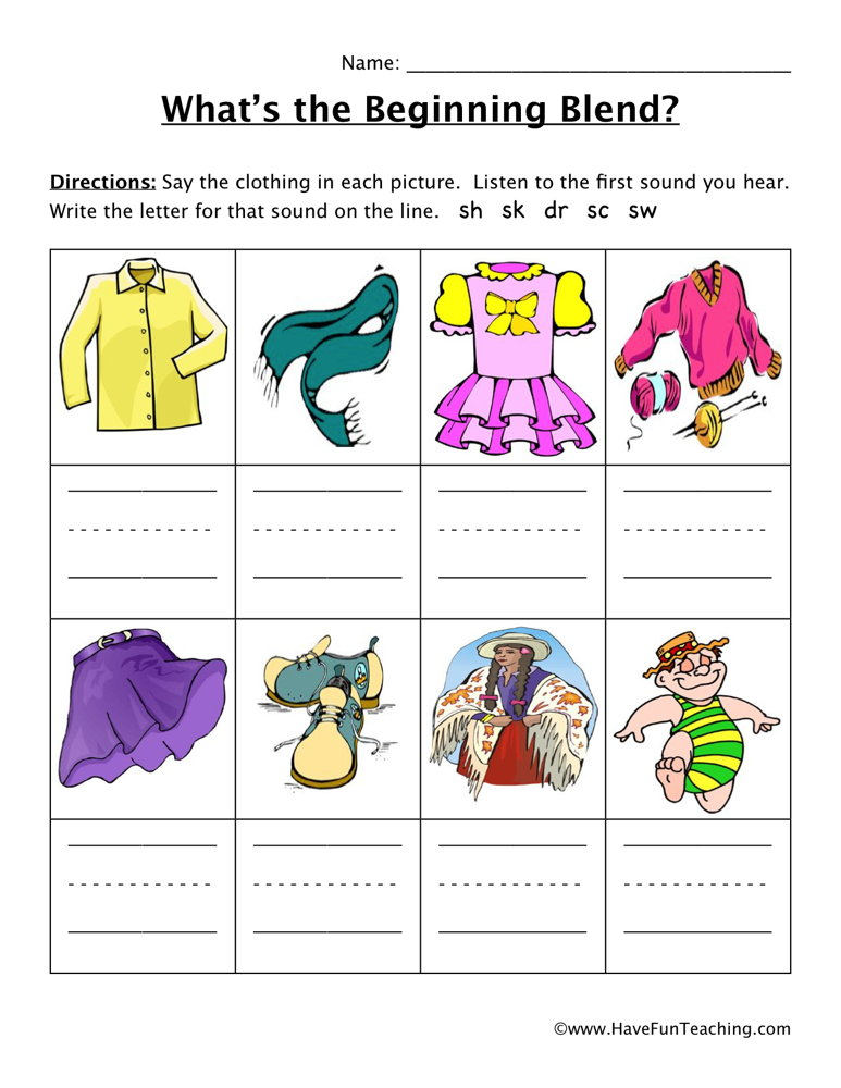 Blends Worksheets | Have Fun Teaching