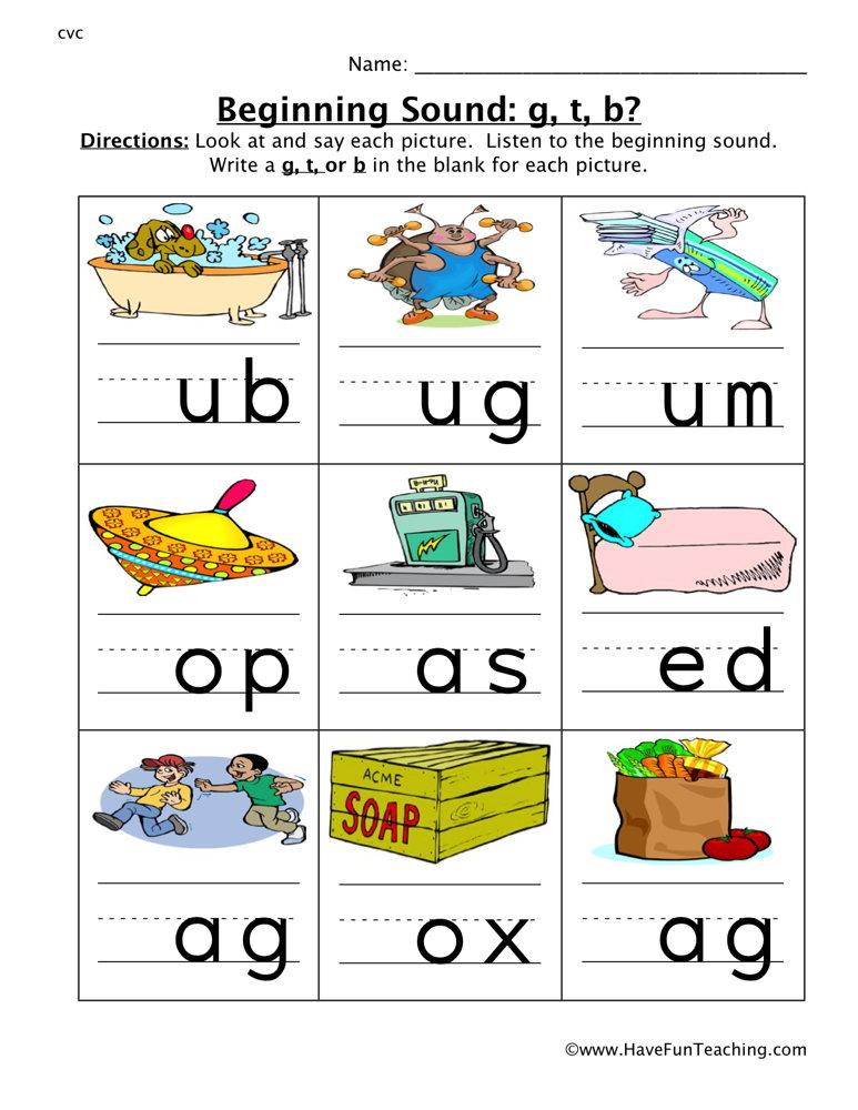 math worksheet : beginning sound worksheet  page 7 of 7  have fun teaching : Kindergarten Beginning Sounds Worksheets