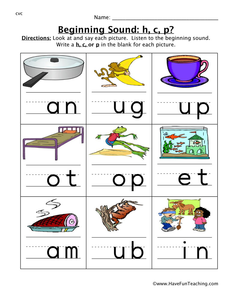 math worksheet : free beginning sound worksheets  page 6 of 7  have fun teaching : Kindergarten Beginning Sounds Worksheets