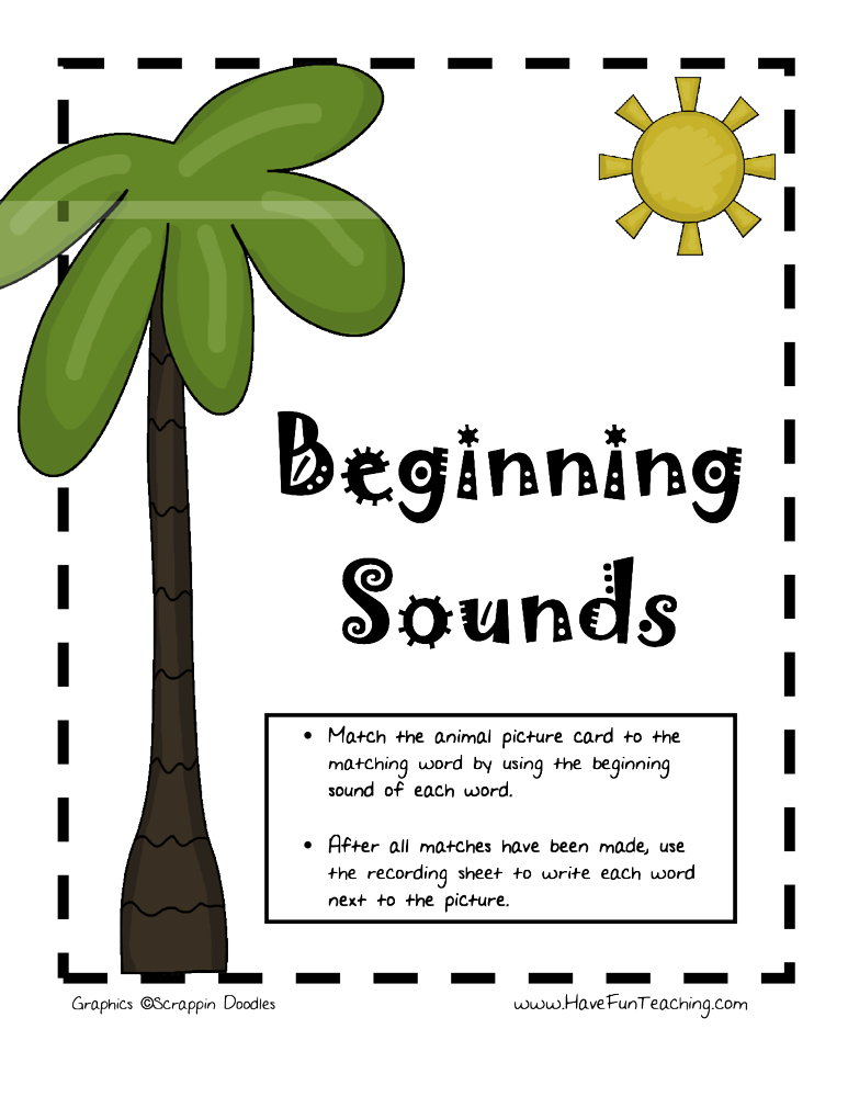 Beginning Sounds Animal Activity