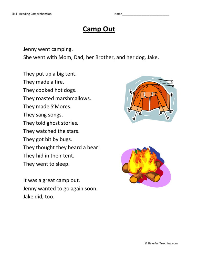 First Grade Reading Comprehension Worksheets Page 2 of 7 – First Grade Reading Comprehension Worksheets