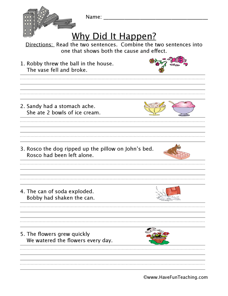cause and effect on bad grades This free worksheet is ideal for teaching students about cause and effect using the boo, alice's  the worksheet is ideal for 3rd and 4th grade, but can be used .