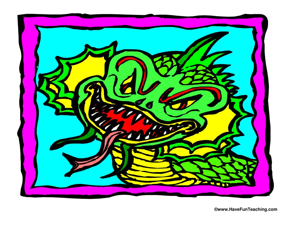 chinese new year dragon poster