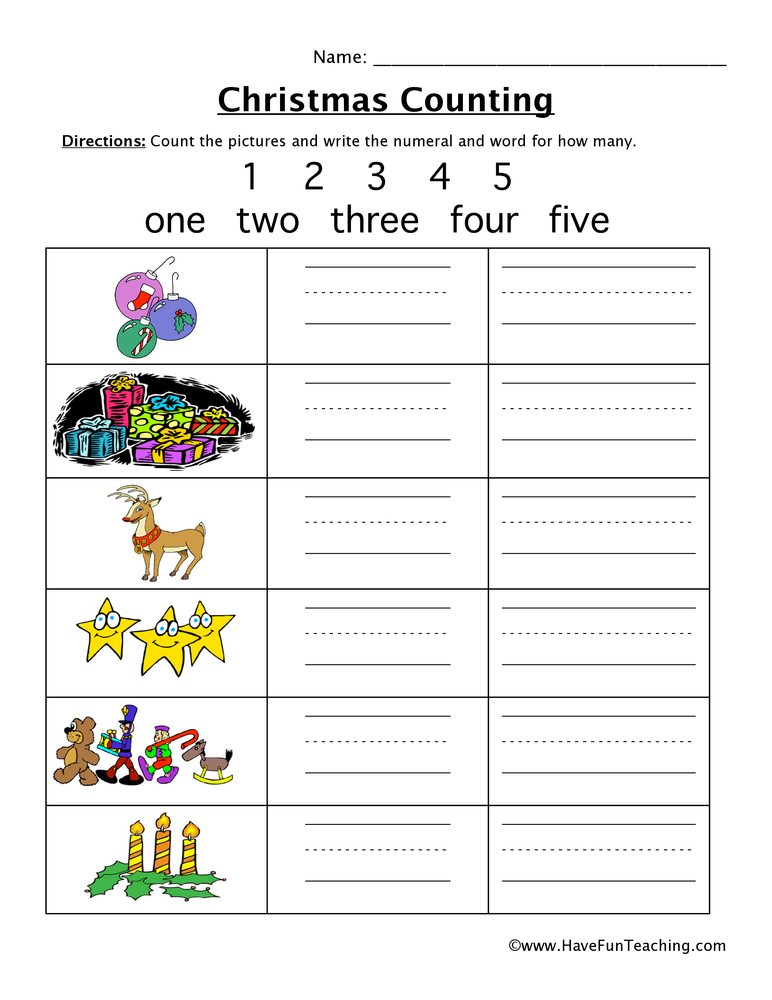 christmas-counting-worksheet