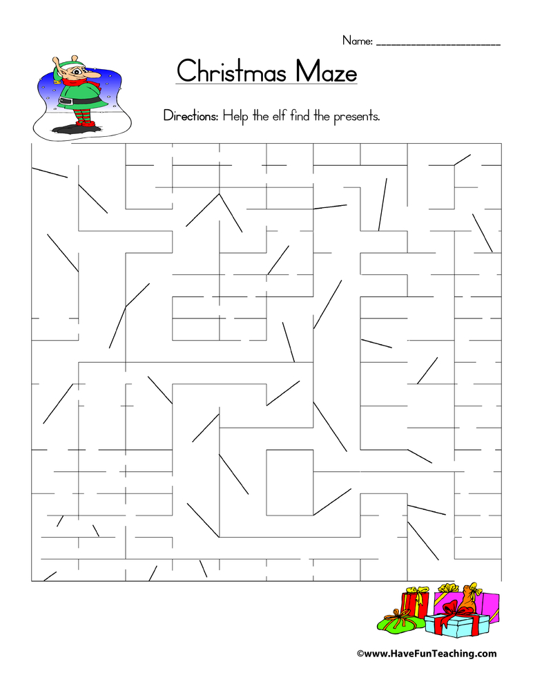 christmas-maze