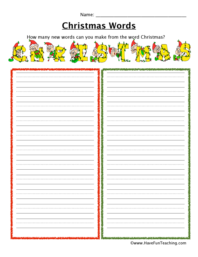 christmas-words-worksheet-1