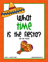 Cinco de Mayo Telling Time To The Half Hour Clock Activity