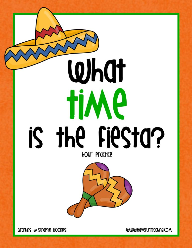 Telling Time To The Hour Clock Activity