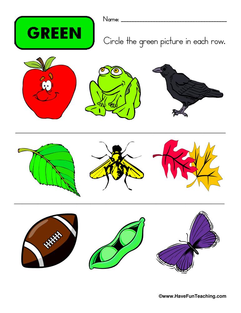 circle-green-worksheet