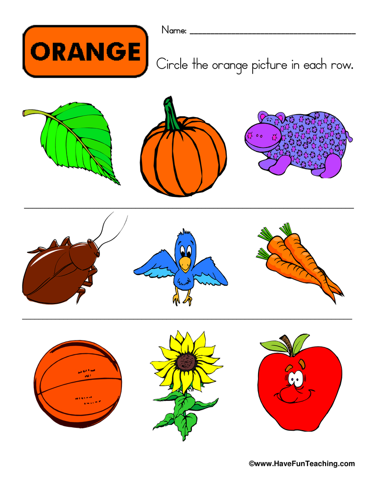 Color Worksheets for Kids : Have Fun Teaching