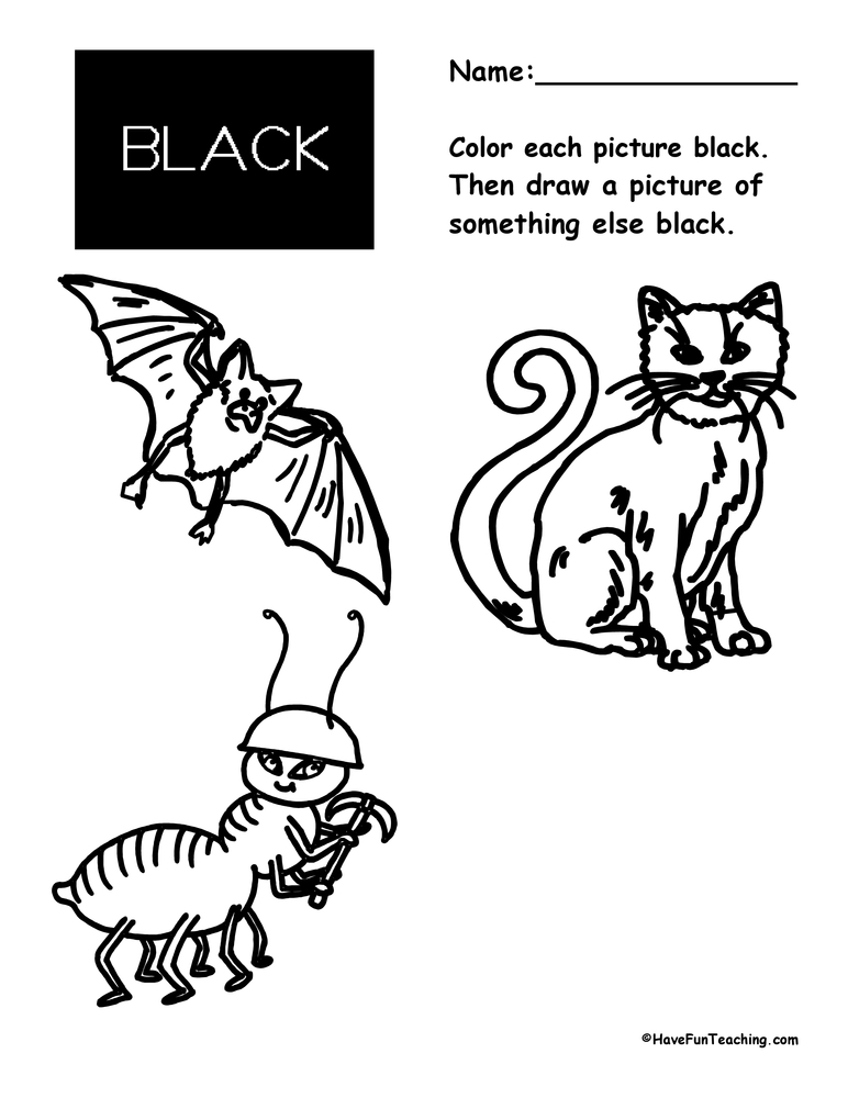 color-black-worksheet