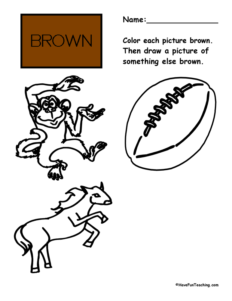 color-brown-worksheet