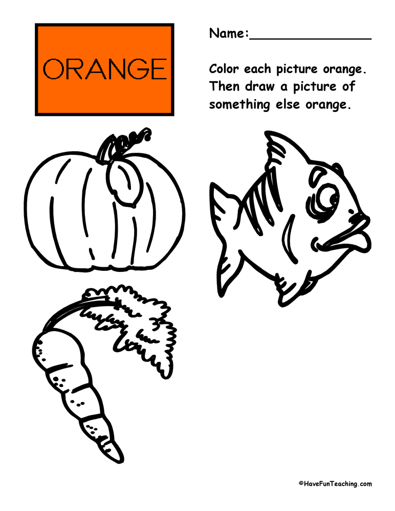 color-orange-worksheet