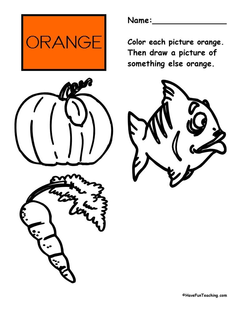 color-orange-worksheet