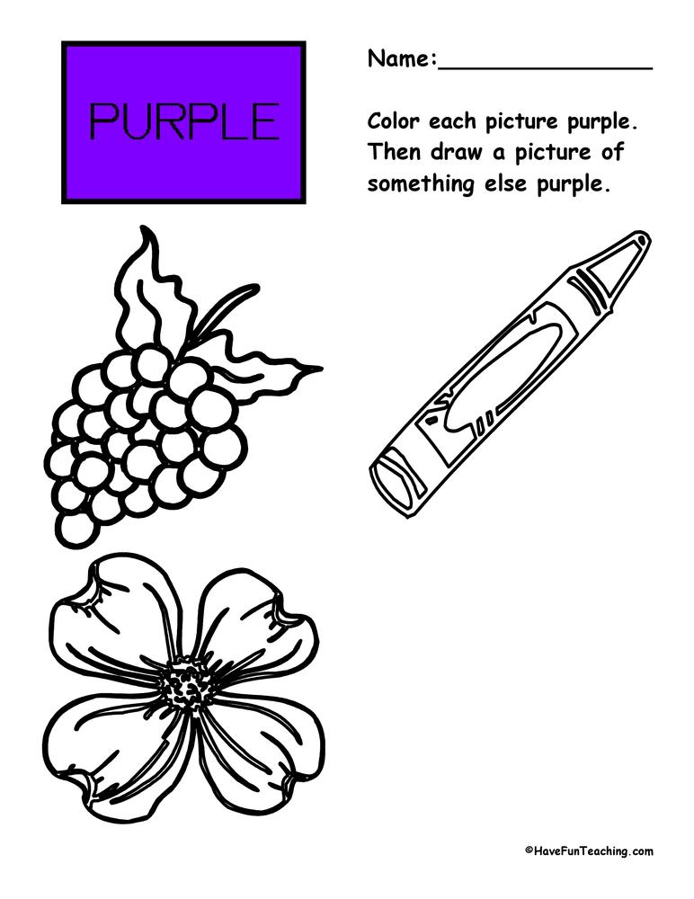 color-purple-worksheet