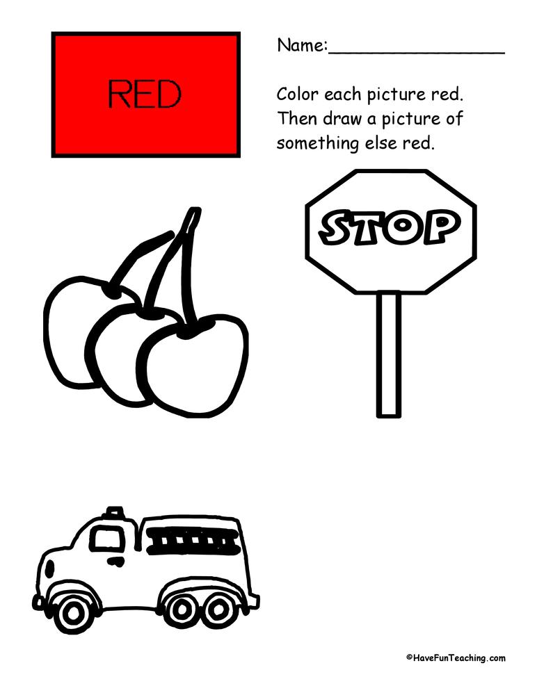 color-red-worksheet