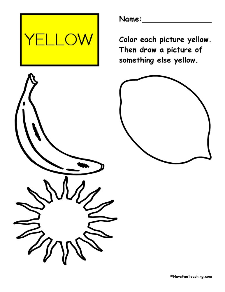 color-yellow-worksheet