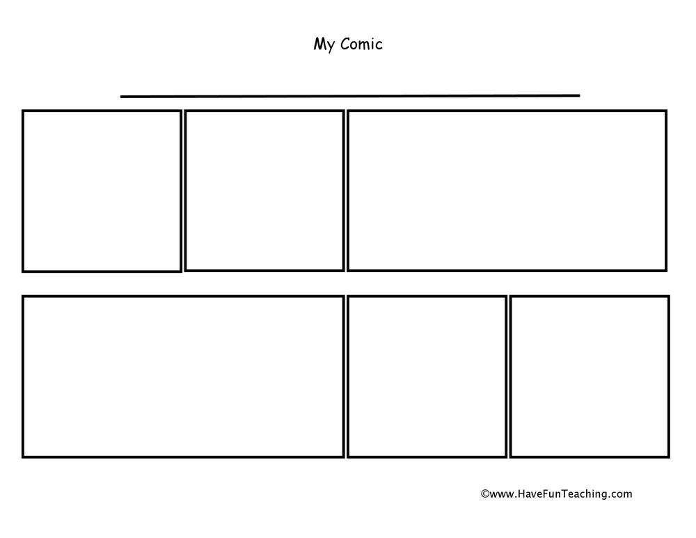 Comic Strip Worksheets - Have Fun Teaching