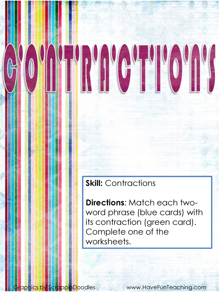 contractions-activity