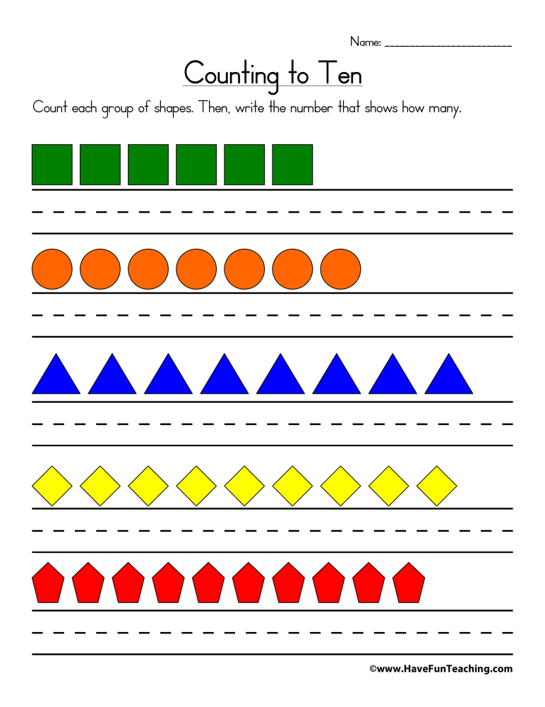 Free Counting Worksheets | Have Fun Teaching