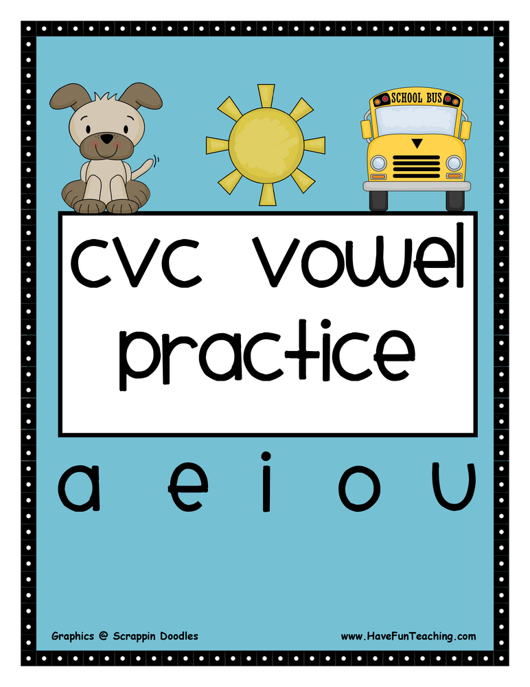 CVC Activities | Have Fun Teaching
