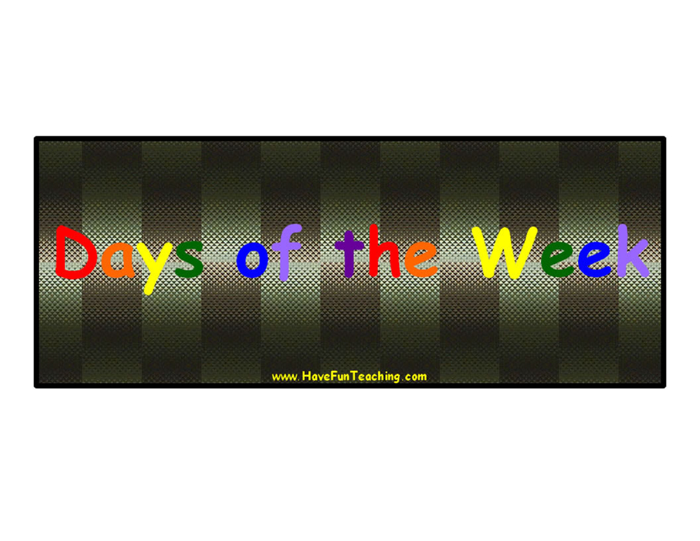 days-of-the-week-signs