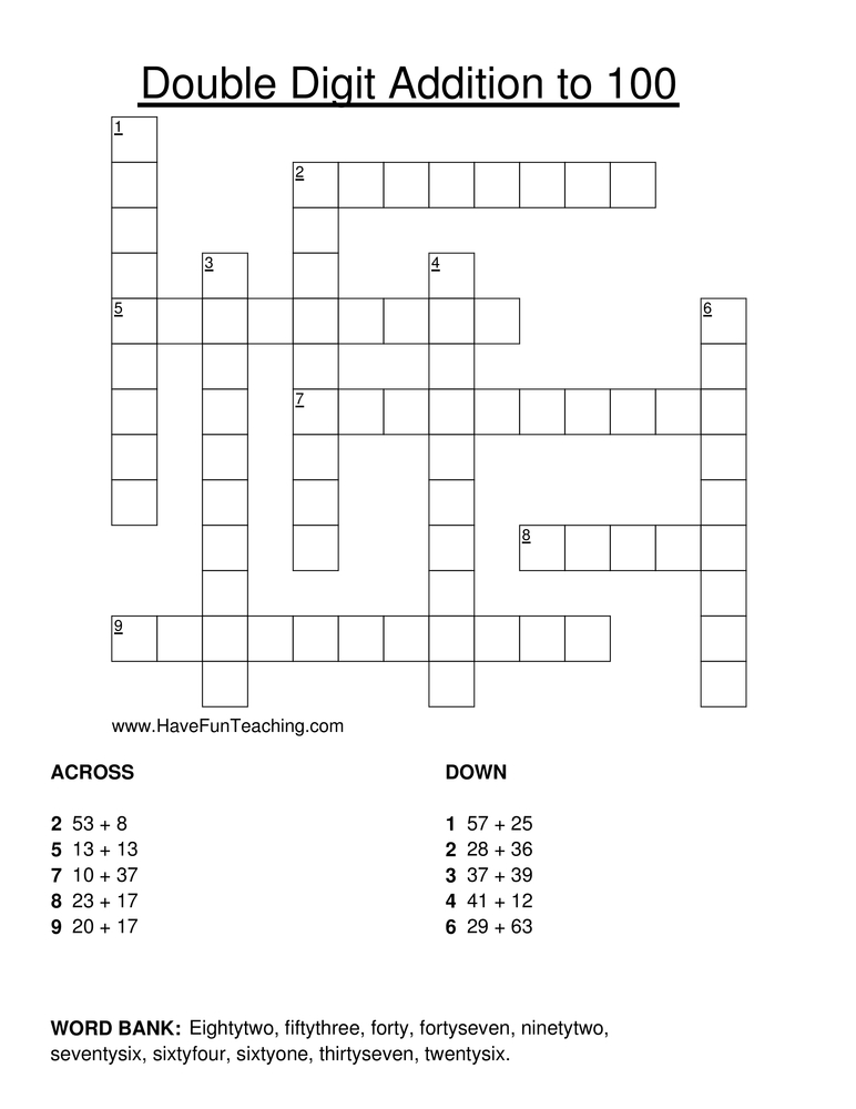 Printable Crossword Worksheets : Crossword puzzles have fun teaching