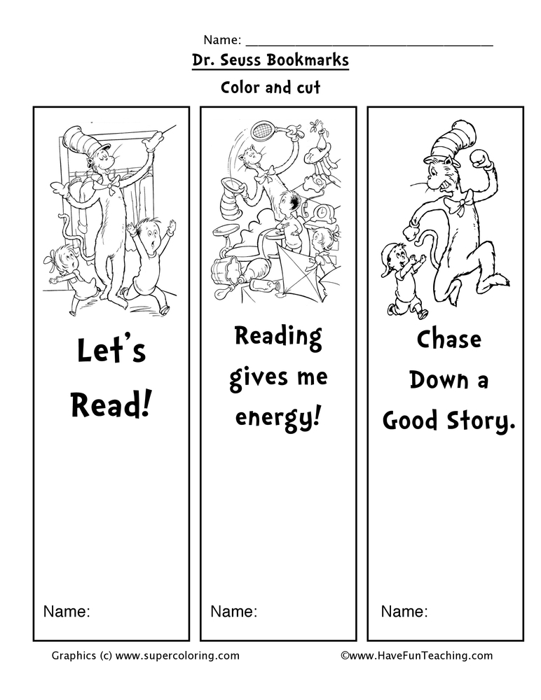 dr-seuss-bookmarks-worksheet