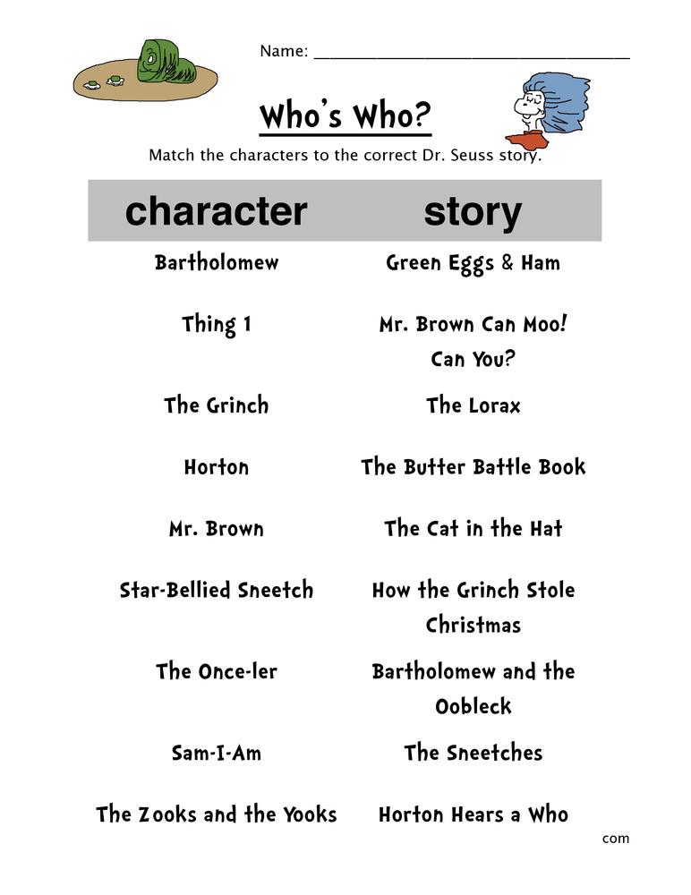 dr-seuss-character-match-worksheet