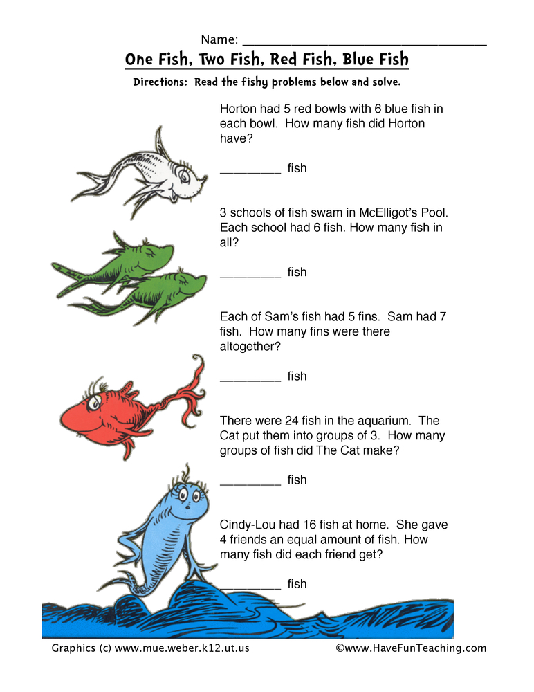 math worksheet : free dr seuss worksheets  have fun teaching : Dr Seuss Kindergarten Worksheets