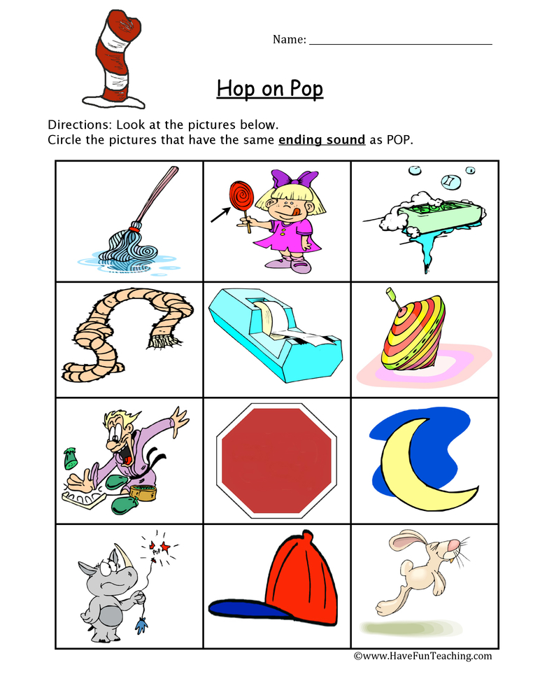 Dr Seuss Phonics Worksheet  Have Fun Teaching