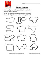Printables Dr Seuss Worksheets dr seuss shapes worksheet have fun teaching shapes1