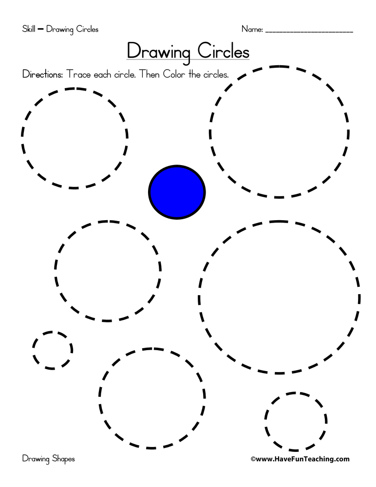 drawing circles worksheet have fun teaching. Black Bedroom Furniture Sets. Home Design Ideas